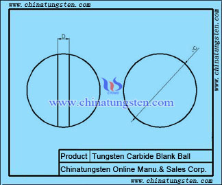 tungsten carbide blank ball drawing